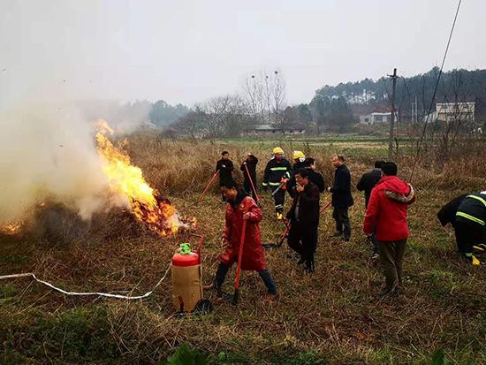 澧县农业农村局组织2021年森林防灭火演练活动